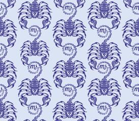 Repaint seamless pattern: scorpions