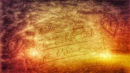 i love you - ich liebe dich - je t'aime