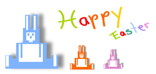 happy easter banner colorful
