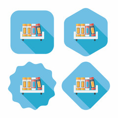 bookshelf flat icon with long shadow,eps10