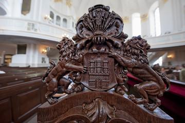Hamburg Dome carved wood symbol