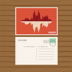 postcard. Vector illustration