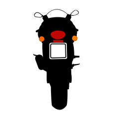 Motorcycle Vector Silhouette Rear View
