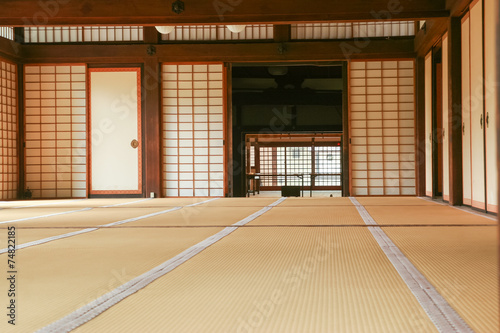 Foto op Plexiglas Japan interior space of a Japanese traditional house