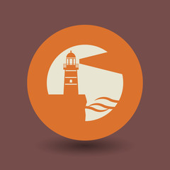 Lighthouse symbol, vector