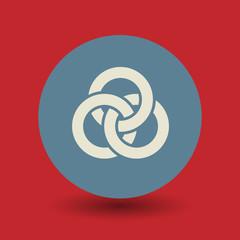 Rings symbol, vector