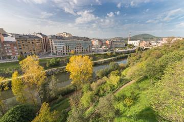 Vista urbana de Ponferrada,León,España