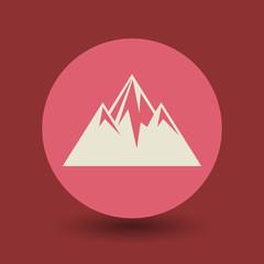 Mountain symbol, vector