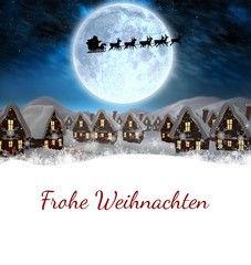 Composite image of christmas greeting in german