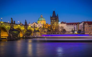 View on Prague short after sunset