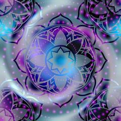 Seamless pattern of mandala symbol
