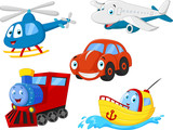 Fototapety Cartoon transportation collection