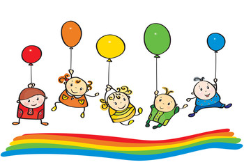 Vector kids rainbow colors.