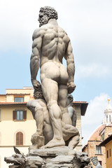 Hercules and Cacus statue at Piazza della Signoria i Florence, I