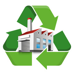 Factory recycling symbol