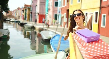 Business Woman Fashion Shopping Bags Money Sale Europe