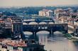 View of Gold (Ponte Vecchio) Bridge in Florence, Italy