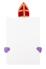 Sinterklaas with card board