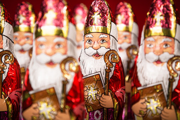 Sinterklaas . Dutch chocolate figure