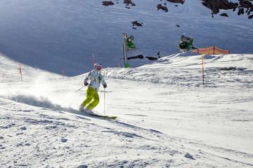 Skier in Alps