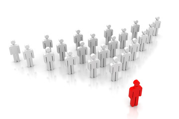 Team leader, leadership concept .