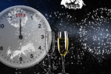 Composite image of 2015 clock