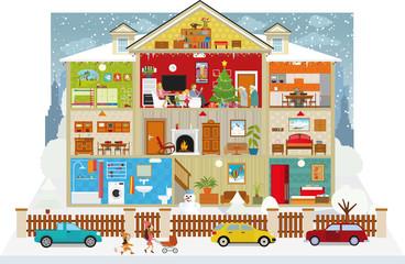Inside the house (christmas)