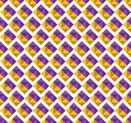 vector geometric gold and violet triangular on white background.