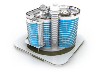 3D building model..