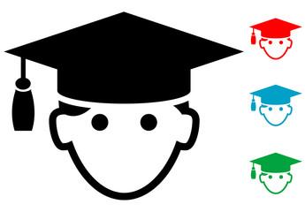 Pictograma icono graduado con varios colores