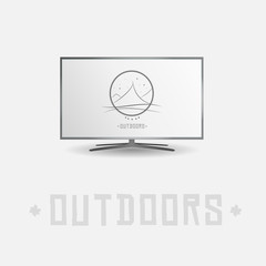 Smart tv screen outdoor mountain sport