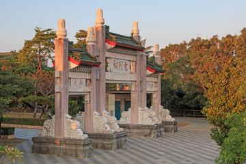 Martyr Shrine at sunset, Kaohsiung - Taiwan