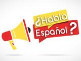 Fototapety megaphone : habla espanol