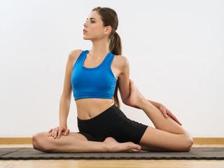 Yoga leg stretches