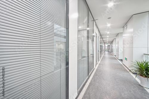 modern office corridor - 74832183
