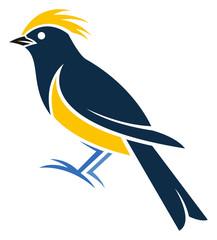 Stylized Bird - Sultan Tit