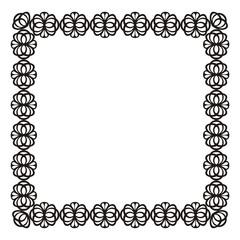 Rectangular decorative frame.