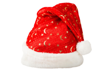 Christmas red hat with white fur