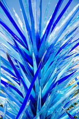 Bright Blue Glass Sculpture