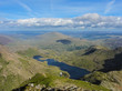 Panoramic view from the summit of mount Snowdon
