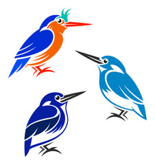 Stylized Birds - Kingfishers