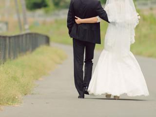 Walking Embracing Couple