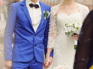 Holding Hands at Ceremony