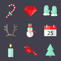 9 Christmas Icons Set 3
