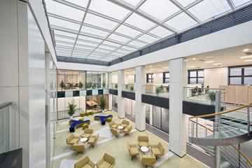 modern office center hall or lobby