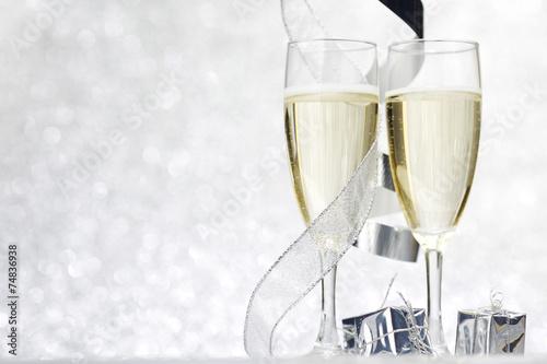 canvas print picture Champagne and decor