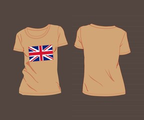 t-shirt with the flag of great Britain