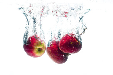 Apples fall deeply under water