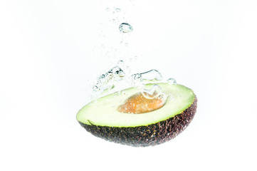 avocado fall deeply under water