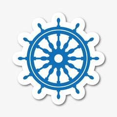 Logo gouvernail de bateau.